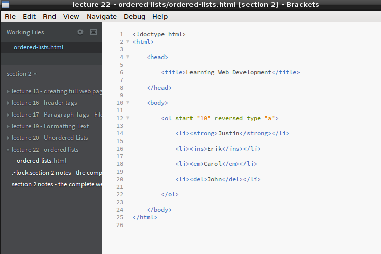 I started to using the Brackets text editor today  I've previously …
