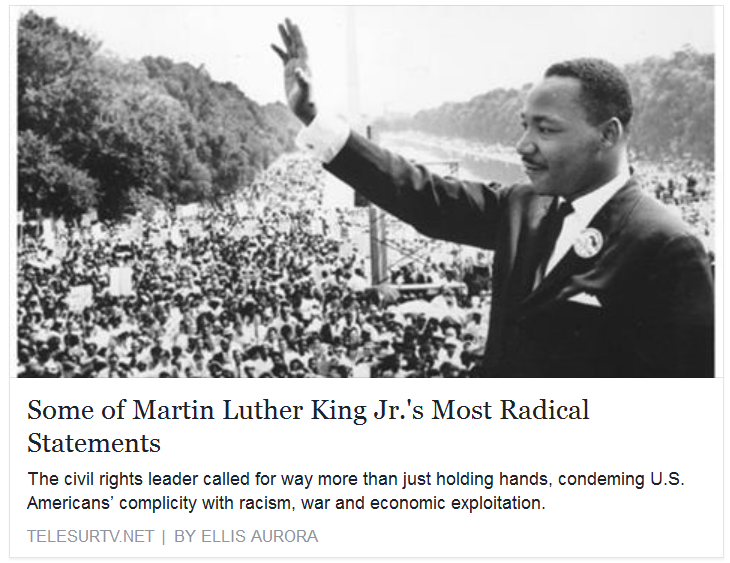 analysis of martin luther king