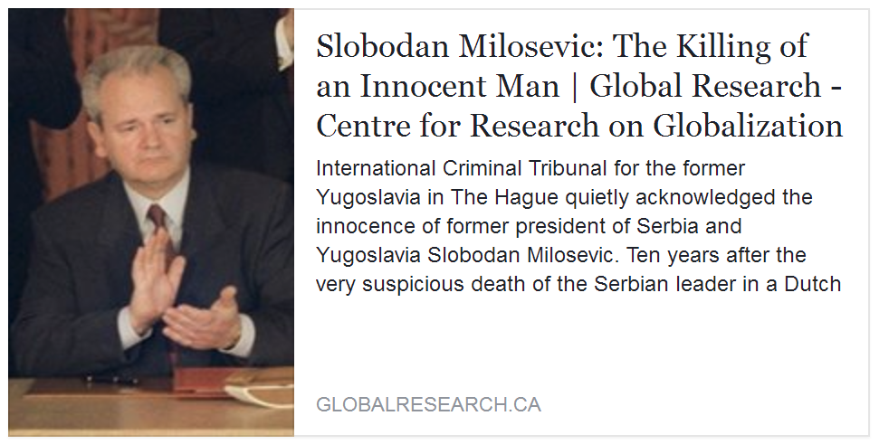 slobodan milosevic essay Essay the kosovo dilemma by william  boris yeltsin's man was asked if russia would stand with nato in responding militarily to slobodan milosevic's bloody crackdown in serbia's mainly.
