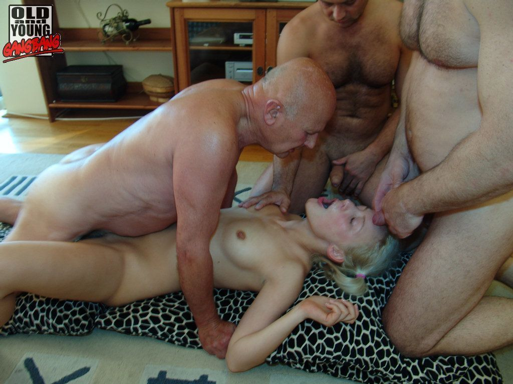 Old vs young amazing hardcore group sex