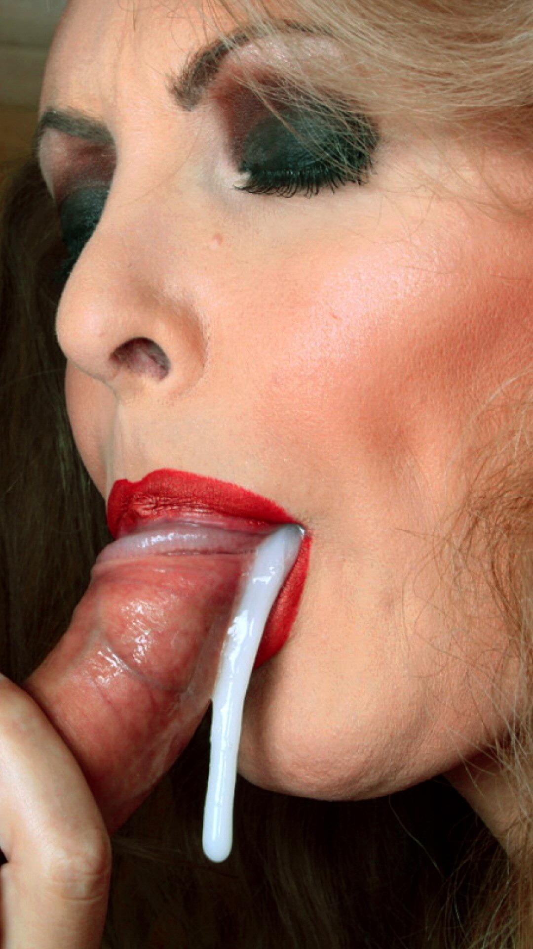 Cum On Lips Porn